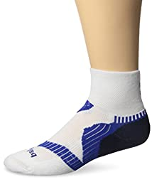 Balega Enduro V-Tech Quarter Socks, White/Ink/Cobalt, Medium