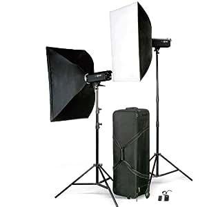 """LEINOX 2x 300WS Studioblitz Set """"GEMINI"""", 2x Blitz TC-300 / 2x Lampenstativ XL / 2x Softbox / 1x Blitzauslöser Set / 1x Koffer (hergestellt von Godox)"""