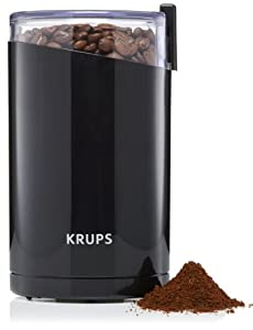 KRUPS F20342 Electric Spice and Coffee Grinder with Stainless Steel Blades, Black