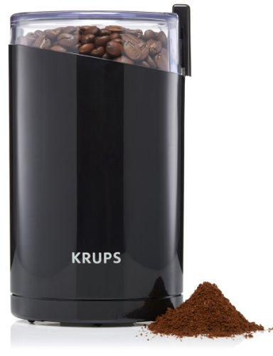 Krups Coffee grinder F203, Negro/Blanco, 160 W, 153 mm - Molinillo de café (US enchufe)