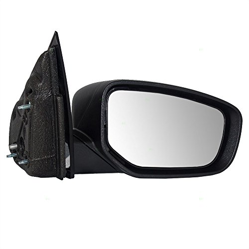 Passengers Manual Side View Mirror Textured Replacement for Dodge 68086506AE (2013 Dodge Dart Manual compare prices)