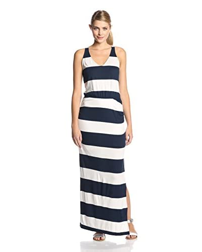 Splendid Women's Luna Lake Stripe Ruched Maxi Dress