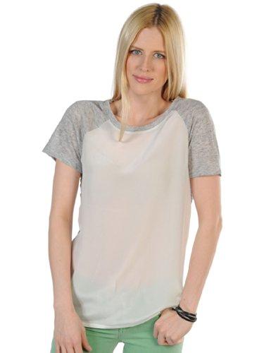 Second Female Bea T-Shirt S, grau/weiss