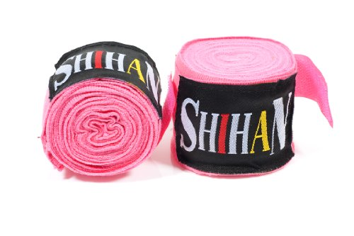 Boxing Hand Wraps - 'SHIHAN- MAX' PINK- PAIR SPECIAL PROMOTION PRICE