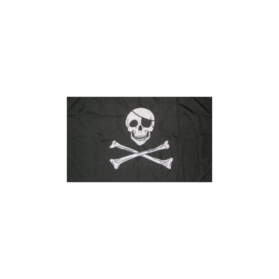 Skull and Crossbone Pirate 3x2 Flag [Kitchen & Home]