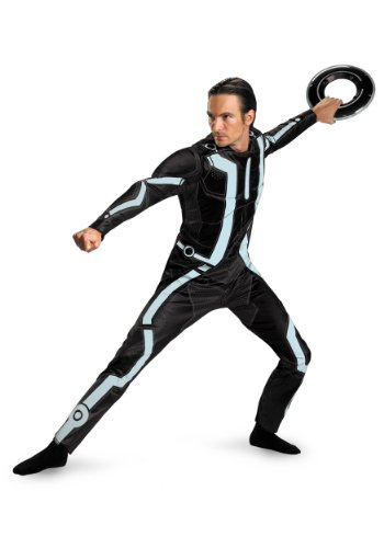 Disguise Mens Deluxe Movie Characters Tron Legacy Superhero Fancy Dress Costume