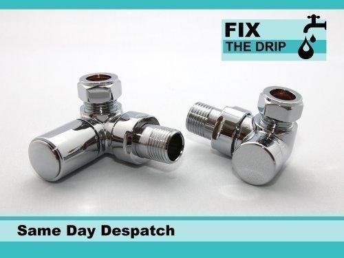 FixtheDrip-Ventilset-abgewinkelt-verwendbar-als-Heizkrperbeheizbarer-Handtuchhalter-Absperrventile-Rcklaufverschraubung-verchromt