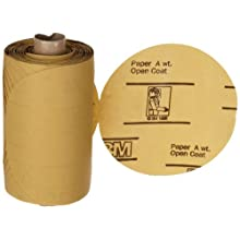 "3M Stikit Gold Paper Disc Roll 216U, PSA Attachment, Aluminum Oxide, 5"" Diameter, P500 Grit (Pack of 1)"