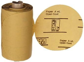 "3M Stikit Gold Paper Disc Roll 216U, PSA Attachment, Aluminum Oxide, 5"" Diameter, P500 Grit (Pack of 1)"