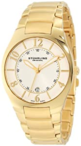 "Stuhrling Original Men's 112G.33332 ""Classic Ascot Regalia"" 23k Gold-Layered Watch"