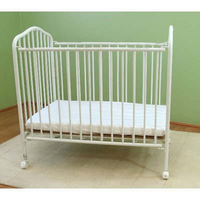 Compact Folding Metal Crib Finish: White front-493112