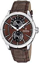 Comprar Festina  F16573/6 - Reloj de cuarzo para hombre, con correa de cuero, color marrón