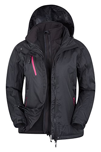 Mountain Warehouse Wasserfeste Bracken Damen 3-in-1 Multifunktionsjacke Regenjacke