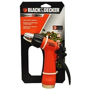 Black & Decker IQ Series 3 Way Garden Hose Spray Nozzle