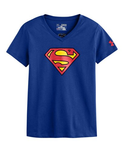 Under Armour Big Girls' Ua Supergirl V-Neck Youth Small Royal front-972709