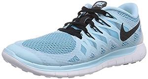 Nike Free 5.0 Women Laufschuhe ice cube blue-black-clearwater - 41