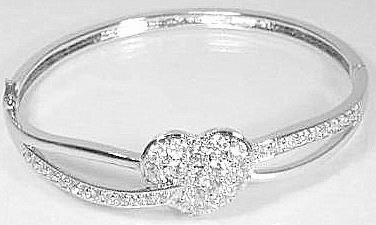 8.00 Ct Round Brilliant Pave Heart Platinum Plated