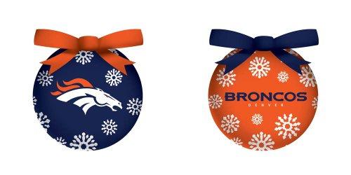 Denver Broncos Boxed Led Ornament Set
