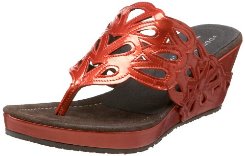 Donald J Pliner Women's Gustaf Wedge Sandal,Red,7 M US