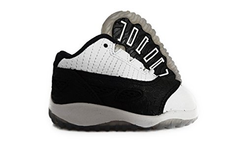 Nike Air Jordan 11 Retro Low Toddler Size 7.5 (White / Metallic Silver / Black) 306004-100 front-1051990