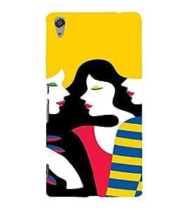 PrintVisa Gossip Girls Art 3D Hard Polycarbonate Designer Back Case Cover for Sony Xperia C6