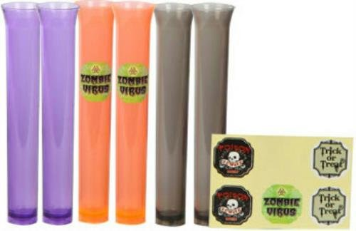 Flexible Tubes Props : Count translucent plastic test tube props or shot