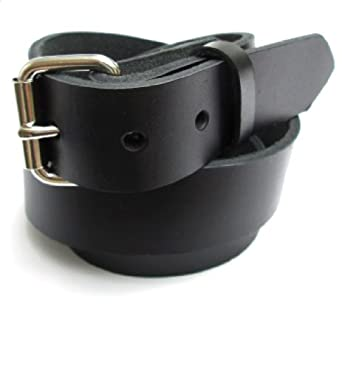 mens heavy black leather belt 1 1 4 quot wide new 30 at