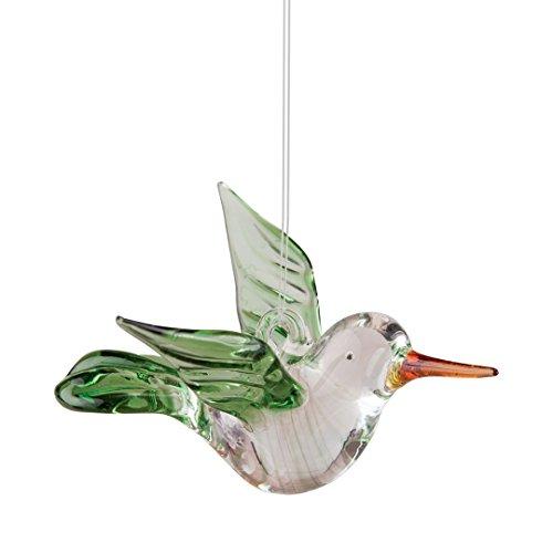 Hummingbird Green Art Glass Hanging Christmas Ornament