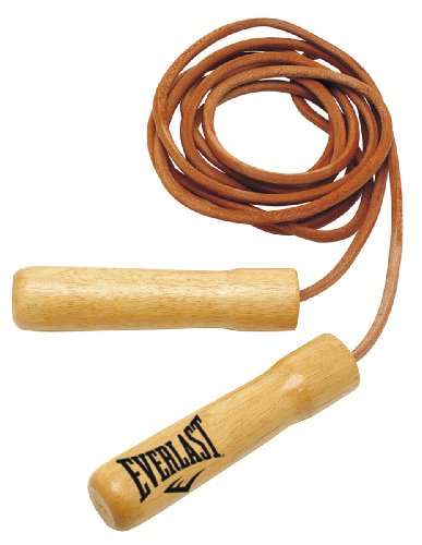Everlast Springseile Leather Jump Rope Non Weighted Handles 8', 2,4m