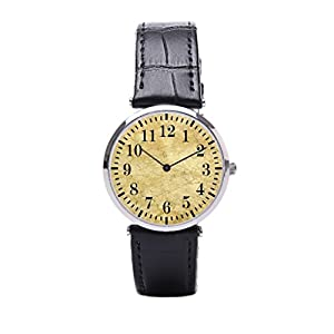 Dr. Koo Marble Mens Leather Band Watches Background Sports Wrist Watch