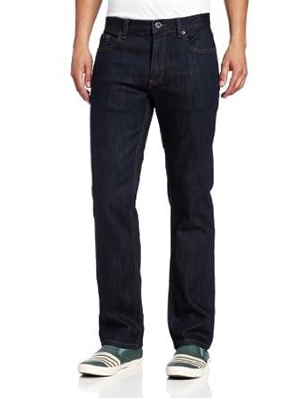 RVCA Men's Regulars II Den Jeans, Deep Indigo, 28