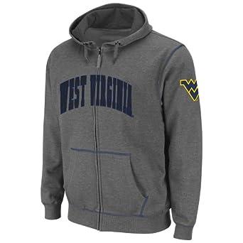 NCAA West Virginia Mountaineers Mens Blackout Full-Zip Fleece Hoodie by Colosseum