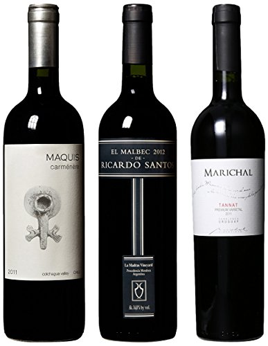 South American Regional Trio: Uruguay, Argentina & Chile Mixed Pack 3 X 750 Ml