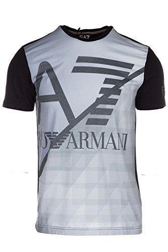 Emporio Armani EA7 t-shirt maglia maniche corte girocollo uomo nero EU M (UK 38) 6XPTB3 PJ45Z 1200