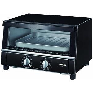 TIGER オーブントースター ブラック やきたて ワイドタイプ KAS-A130-K