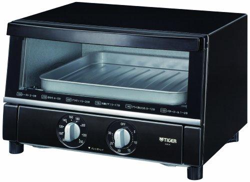 タイガー オーブントースター ブラック 「やきたて」 ワイドタイプ KAS-A130-K