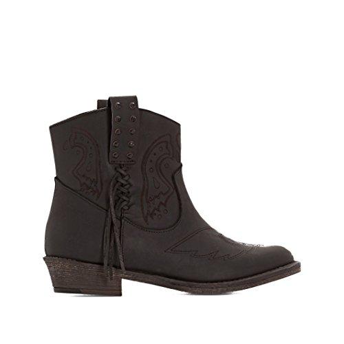 Coolway Donna Boots In Pelle Bandolera Taglia 37 Nero