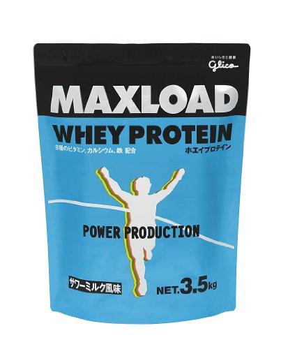 グリコ マックスロード ホエイプロテイン サワーミルク風味 3.5kg MAXLOAD プロテイン