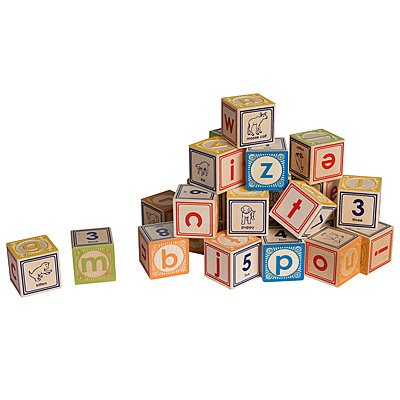 Uncle Goose Lowercase Wooden ABC Blocks - Made in the USA