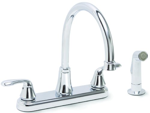 Find Cheap Premier Faucet 126967 Waterfront Lead Free Two-Handle Kitchen Faucet with Spray, Chrome