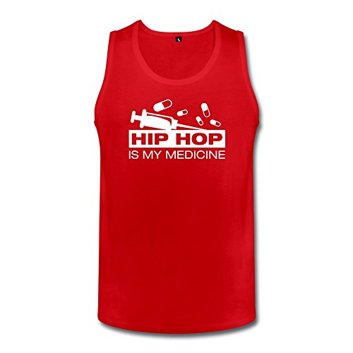 Hip Hop Medicine Custom Geek Men Cotton Tank Top Red