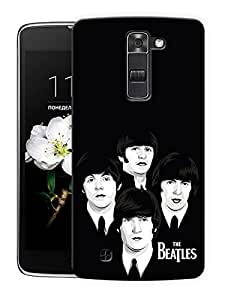 "Minimalistic Beatles Rock Printed Designer Mobile Back Cover For ""LG K10"" By Humor Gang (3D, Matte Finish, Premium Quality, Protective Snap On Slim Hard Phone Case, Multi Color)"