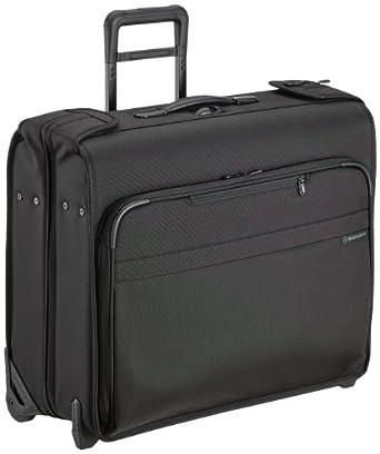 Briggs & Riley @ Baseline Luggage Baseline Deluxe Wheeled Garment Bag, Black, Small