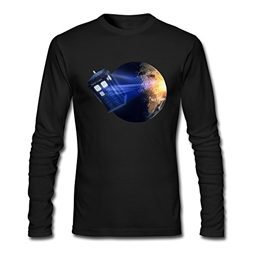 HOORIE Men's Doctor Who T-shirt Black Medium (Dr Who Engagement Ring compare prices)