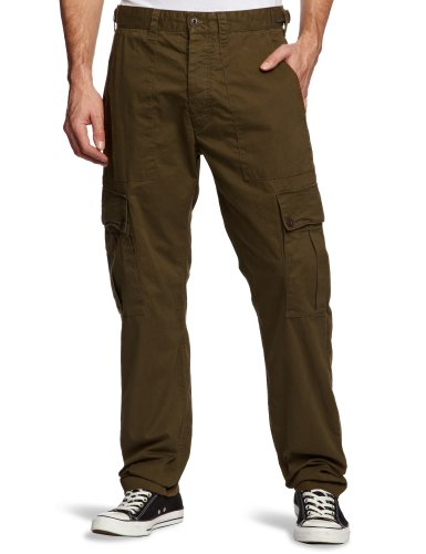 French Connection Division Twill Tapered Men's Trousers Beech W36 INxL32 IN