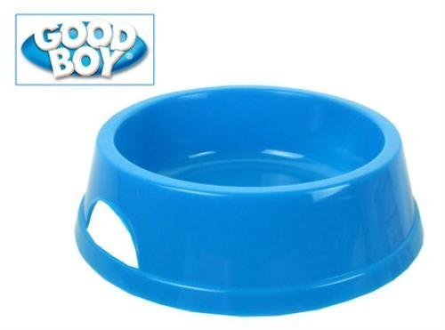 Good Boy Polished Plastic Pet Bowl 7.5inch Light Blue ( High quality polished medium pet diner. Designer inspired to blend with home interiors. Fully dishwasher safe, stylish and practical design. With carry handles. Size: 7.5 (19cm) Approximate bowl depth: 6cm (lip-base) Made in England. ...) by Armitage