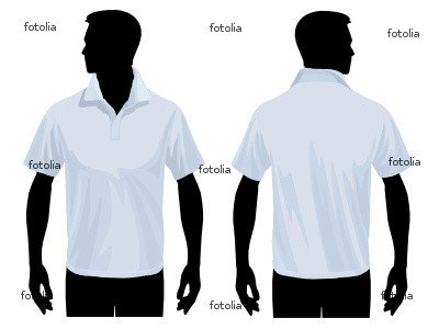 "Wallmonkeys Peel and Stick Wall Decals - Men's Polo Shirt Template - 60""W x 45""H Removable Graphic"