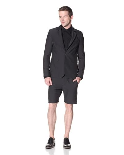 Marc Stone Men's Kone Basic Suit Jacket with Two Buttons  [Black]