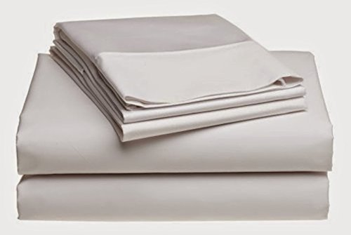 "Srp Linen 1500-Thread-Count Egyptian Cotton Super Soft Extra Deep Pocket 1-Piece Fitted Sheet/Bottom Sheet California King/ Western King Solid White Fit Up To 21"" Inches Deep Pocket Fully Elastic All Around front-1024737"