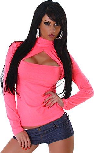 Jela London Damen Langarm-Shirt mit Rollkragen - Viele Trendfarben